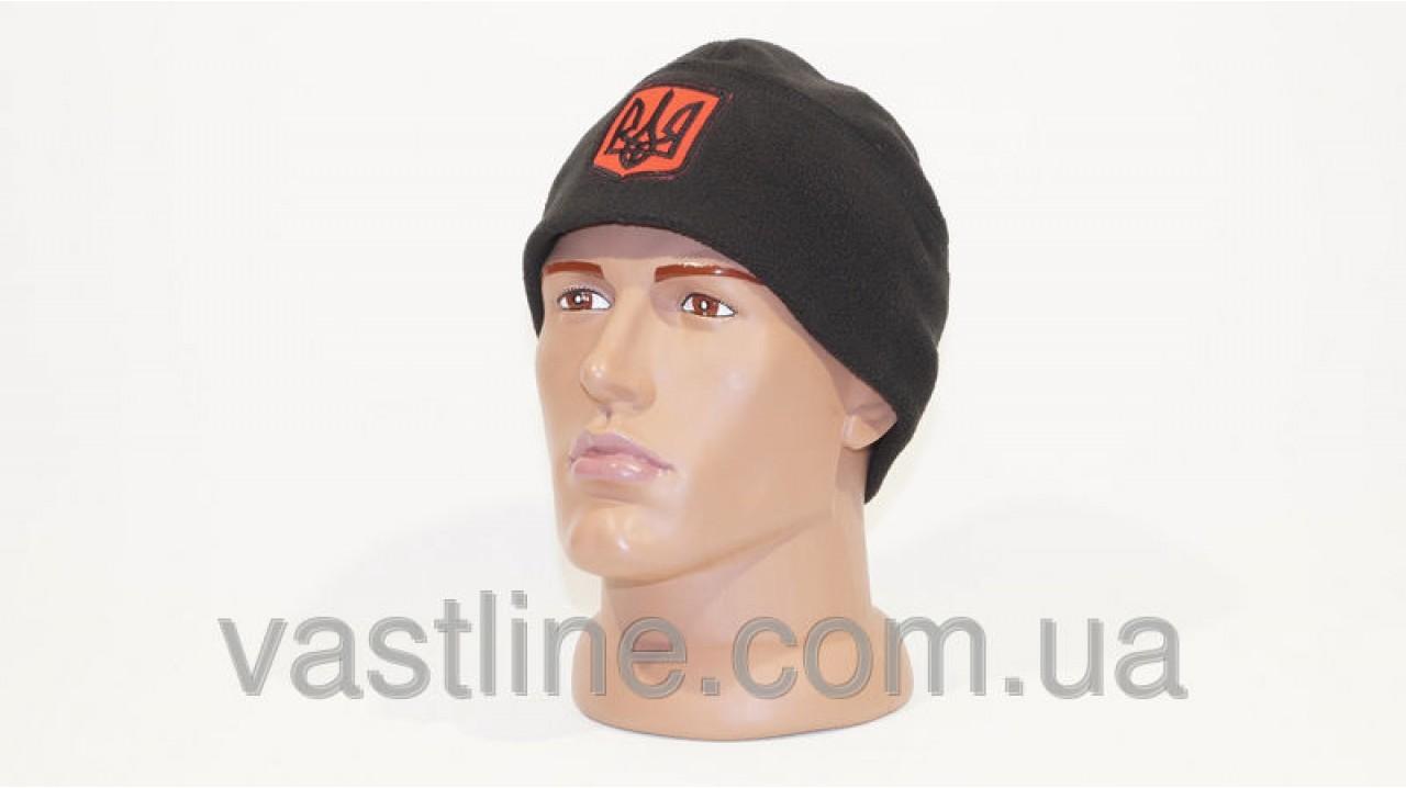 Флисовая шапка черного цвета с символикой купить в Украине от ... d9e883e6e5fea