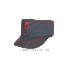 Кепка Мaзепинка (Черная с красным шевроном)
