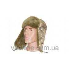 Шапка ушанка расцветка Украинский пиксель (UKRPIXEL MM 14)